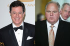 Stephen Colbert and Rush Limbaugh
