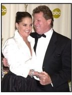 Ryan O'Neal and Ali McGraw backstage at the 2002 Academy Awards