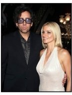 Tim Burton and Lisa Marie at the Planet of the Apes premiere