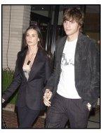 Demi Moore and Ashton Kutcher at the Stella McCartney Store Opening
