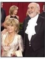 Academy Awards 2003 Arrivals: Sean Connery and wife Micheline Roquebrune