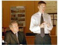 In Good Company Movie Still: Dennis Quaid and Topher Grace