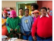 """Fat Albert"" Movie Still: Jermaine  Williams, Marques Houston, Alphonso McAuley, Keith Robinson, Aaron Frazier, Shedrack Anderson III, Kenan Thompson"