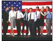 The West Wing TV Still: The cast of The West Wing