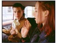 The Bourne Identity Movie Still: Jason Bourne (matt Damon) asks Marie (Franka Potente) for a ride to Paris