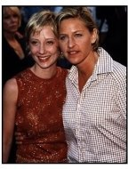 """Anne Heche and Ellen DeGeneres at the """"Face Off"""" Premiere"""
