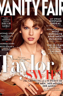 Taylor Swift on cover of Vanity Fair