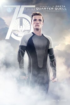 Hunger Games: Catching Fire Poster Peeta