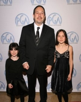 Mark Gordon and his daughters