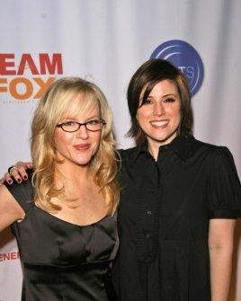 Rachael Harris and Melanie Paxson