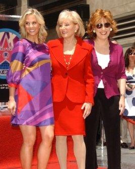 Elisabeth Hasselbeck with Barbara Walters and Joy Behar