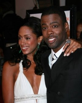 Malaak Compton and Chris Rock