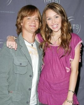 Jason Earles and Miley Cyrus