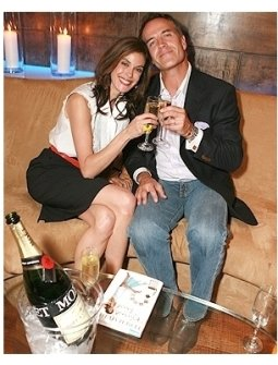 """Teri Hatcher's Book """"Burnt Toast and Other Philosophies of Life"""" Party:  Teri Hatcher and Richard Burgi"""