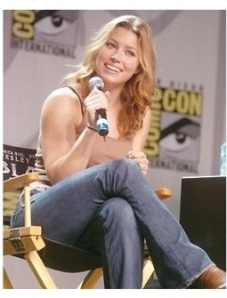 Jessica Biehl at Comic-Con 2004
