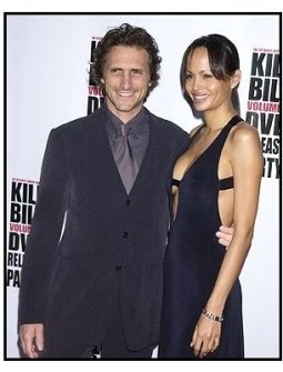 "Lawrence Bender and date at the ""Kill Bill Vol. 1"" DVD Release Party"