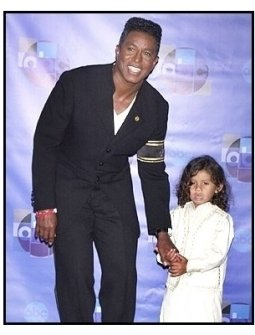 "Jermaine Jackson and son backstage at the ABC Television Network Special,  ""Motown 45"""