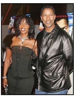 "ONE TIME USE ONLY:Denzel Washington and Pauletta at the ""Out of Time"" Premiere"