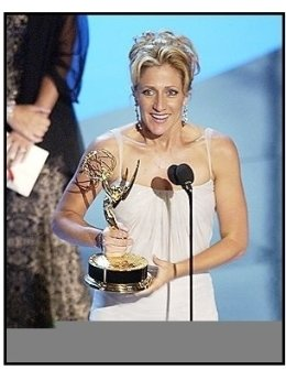 "Edie Falco accepts the Outstanding Lead Actress in a Drama Series award for ""The Sopranos""at The 55th Annual Primetime Emmy Awards"