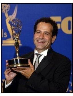 Tony Shalhoub on the backtage at the 2003 Emmy Awards