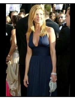 Jennifer Aniston on the red carpet at the 2003 Emmy Awards