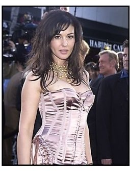 "Monica Bellucci at ""The Matrix Reloaded"" premiere"