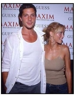 Simon Rex and date at the 2000 Maxim Motel Party