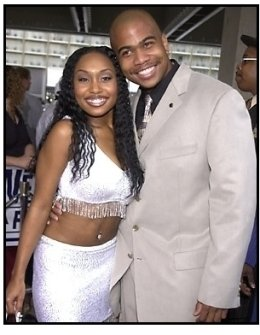 Omar Gooding and date at the Baby Boy premiere