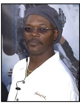 Samuel L Jackson at the Tomb Raider premiere