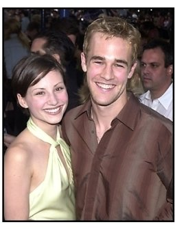 James Van Der Beek and Heather McComb at the Tomb Raider premiere