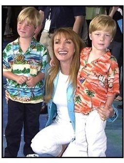 Jane Seymour and sons at the Atlantis premiere