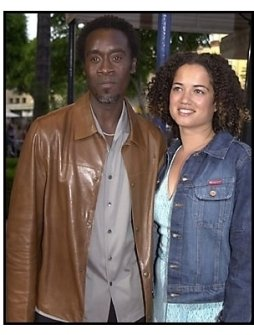 Don Cheadle and Brigid Coulter at the Swordfish premiere