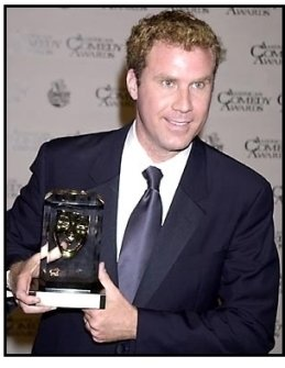Will Ferrell backstage at the 2001 American Comedy Awards