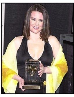 Megan Mullally backstage at the 2001 American Comedy Awards