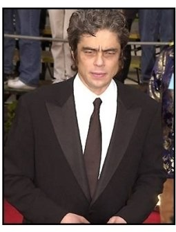 Benicio Del Toro at the SAG Screen Actors Guild Awards 2001
