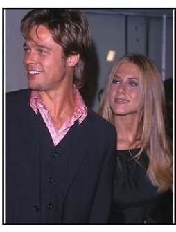 Brad Pitt and Jennifer Aniston at the Fight Club premiere