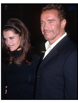 Arnold Schwarzenegger and Maria Shriver at The 6th Day premiere