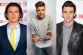 Orlando Bloom, Justin Bieber, Drake Bell