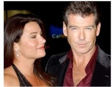 Pierce Brosnan and Wife at the After the Sunset Premiere