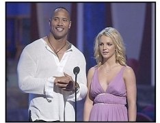 ONE TIME USE ONLY: The Rock and Britney Spears at the 2003 Teen Choice Awards