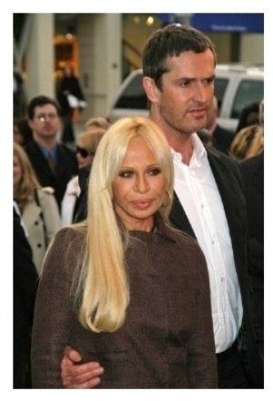 Donatella Versace and Rupert Everett