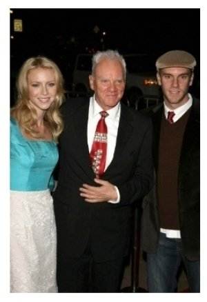 Lilly McDowell with Malcolm McDowell and Charlie McDowell