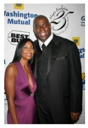Cookie Johnson and Magic Johnson