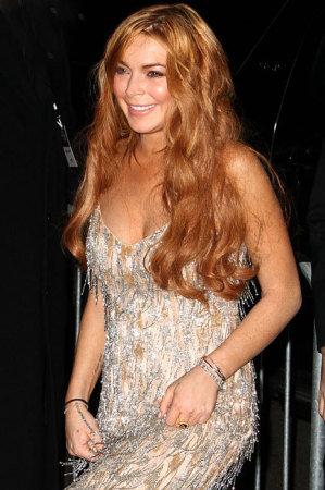 Lindsay Lohan ruins her designer dress