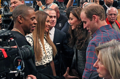 Prince William, Kate Middleton, Jay-Z, Beyonce