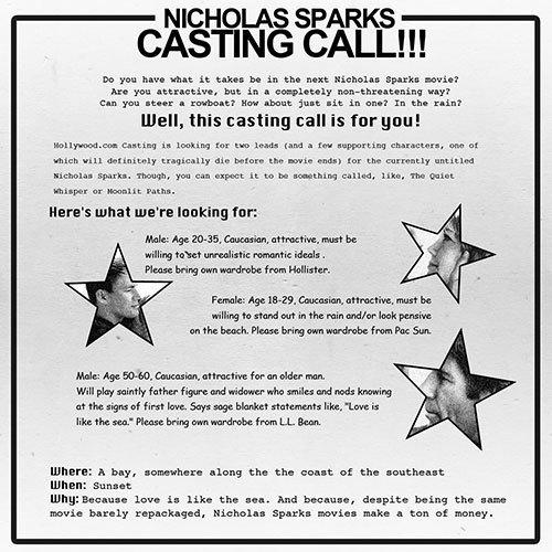 sparks casting call