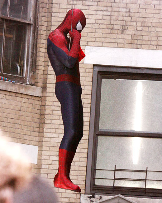 Amazing Spider-Man Set Pic Andrew Garfield