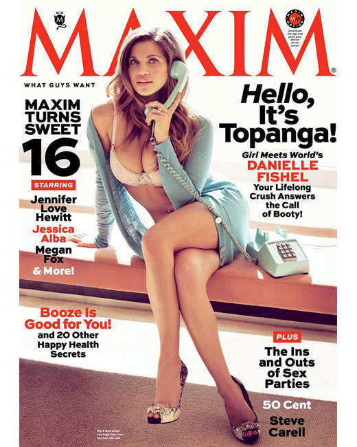 Danielle Fishel on Maxim Cover