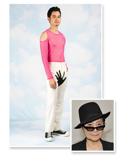 Yoko Ono Open Ceremony Hand Print Line Sued