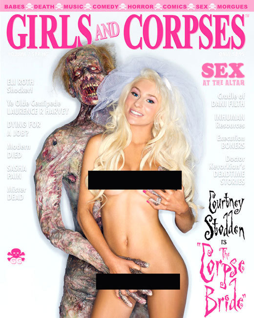 Courtney Stodden poses nude for Girls and Corpses magazine, which is an actual magazine that exists!